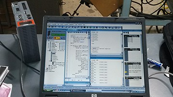 Screenshot of programming software