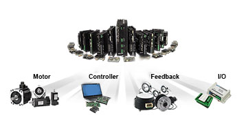 Partner products - motor, controller, feedback, i/o